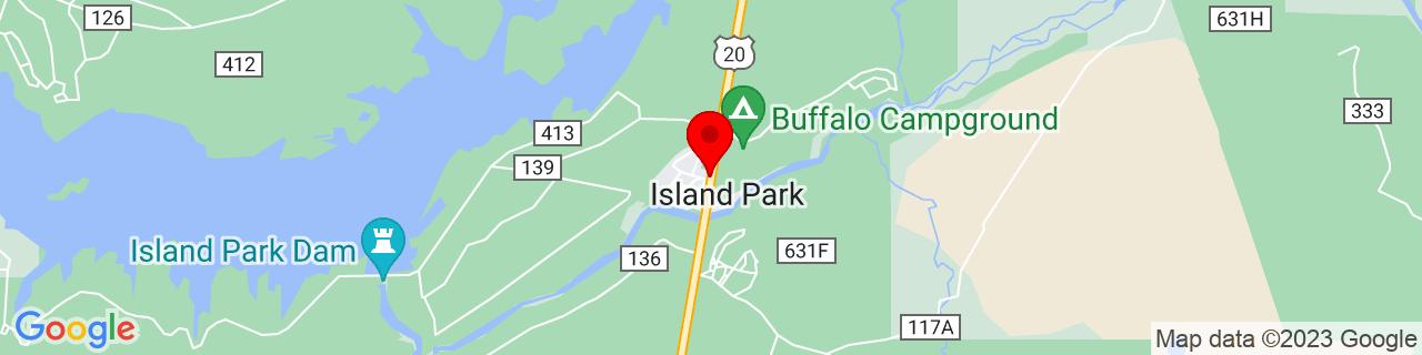 Google Map of 44.4243637, -111.3710645