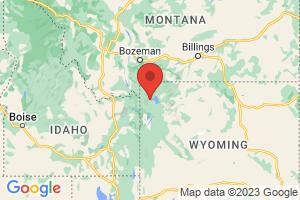Map of Yellowstone Wyoming