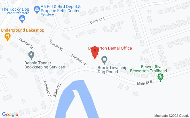 Beaverton Physiotherapy Static Google Map Wide Version