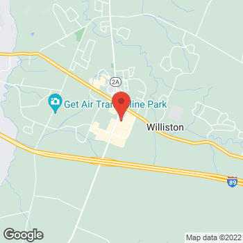 Map of Guitar Center Lessons at 21A Hawthorne St, Williston, VT 05495