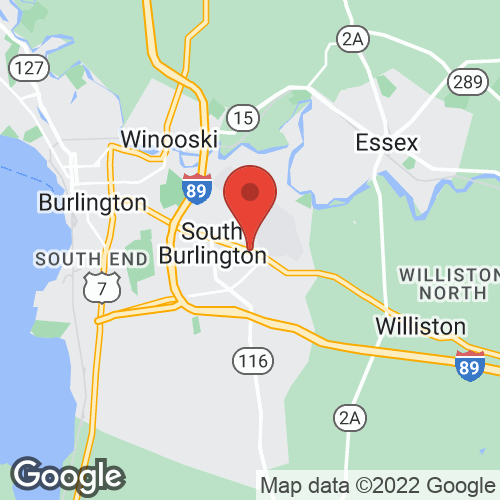 S Burlington - Off Airport on the map