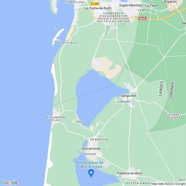 Locatie Étang de Cazaux et de Sanguinet