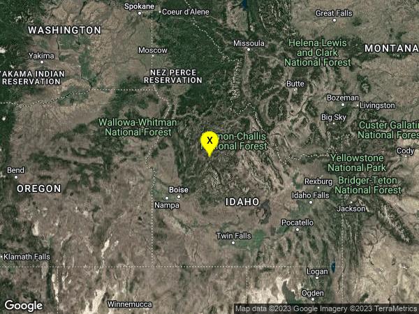 earthquake 39 km NW of Stanley, Idaho