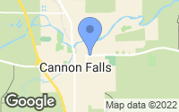 Map of Cannon Falls, MN