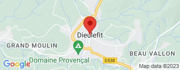 Carte Huttopia - Dieulefit - Petit Paumé