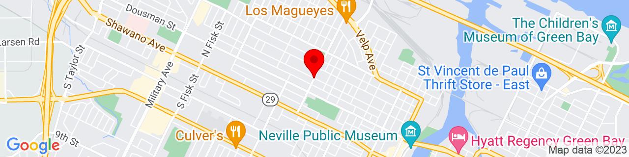 Google Map of 44.526768, -88.035382
