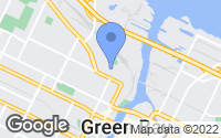 Map of Green Bay, WI