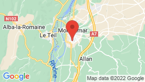 Carte de localisation du centre de contrôle technique MONTELIMAR