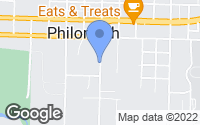 Map of Philomath, OR