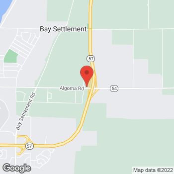 Map of Arby's at 3987 Algoma Rd, New Franken, WI 54229-9510