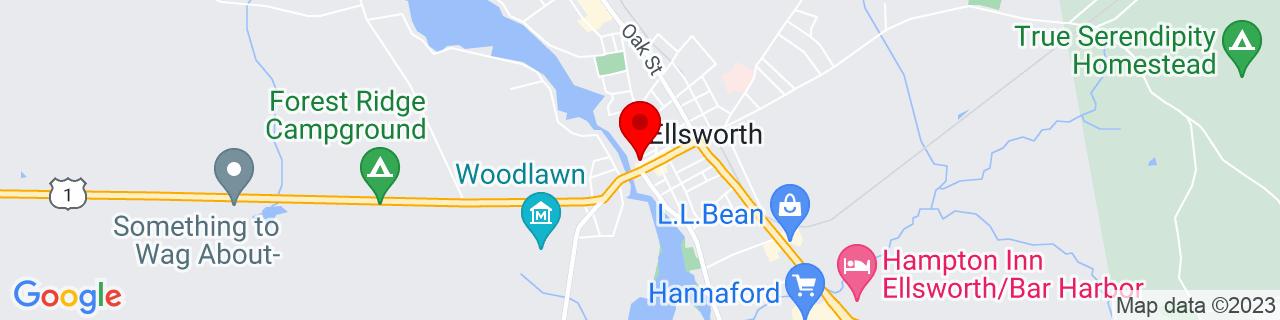 Google Map of 44.5417517, -68.4250864