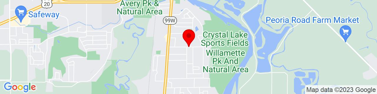 Google Map of 44.5452421, -123.2598619
