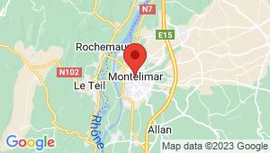 Carte de localisation du centre de contrôle technique Montélimar