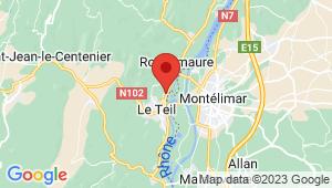 Carte de localisation du centre de contrôle technique LE TEIL