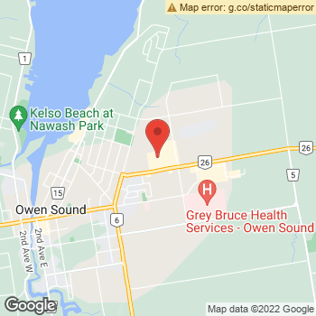 Map of Heritage Place Optometrists at 1350 16th Street East, Owen Sound, ON N4K 6N7