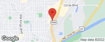 Map of 1571 NW 9th St in Corvallis