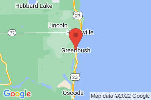 Map of Greenbush