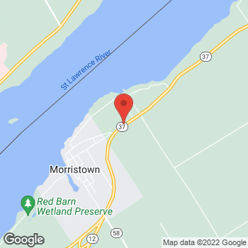 Map of Tim Hortons at 3681 Hwy 37, Morristown, NY 13664