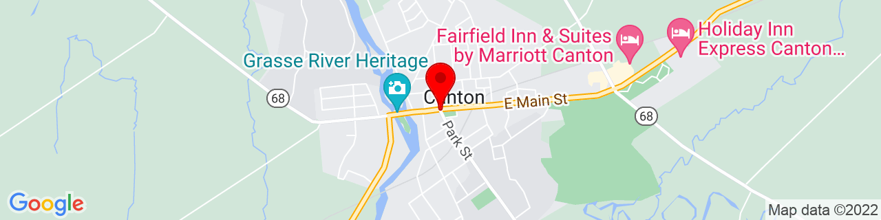 Google Map of 44.595555555555556, -75.16916666666667