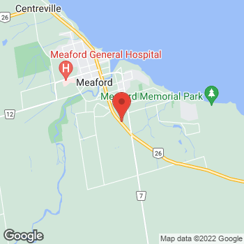 Map of Tim Hortons at 112n Rr#1 Grey Rd, Meaford, ON N4L 0A1