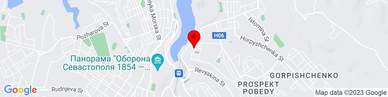 Google Map of 44.6, 33.53333333333333