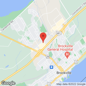Map of Staples Print & Marketing Services at 1000 Island Mall, Brockville, ON K6V 3G9