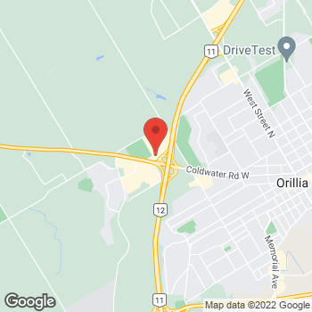 Map of Staples Print & Marketing Services at 135 Murphy Road, Orillia, ON L3V 0B5