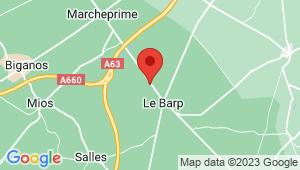 Carte de localisation du centre de contrôle technique LE BARP