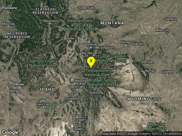 earthquake 6km ESE of West Yellowstone, Montana