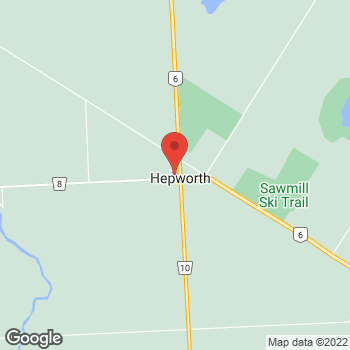 Map of Tim Hortons at 456 Bruce St, Hepworth, ON N0H 1P0