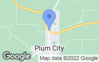 Map of Plum City, WI