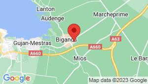 Carte de localisation du centre de contrôle technique BIGANOS
