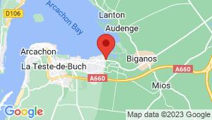 Carte de localisation du centre de contrôle technique GUJAN MESTRAS