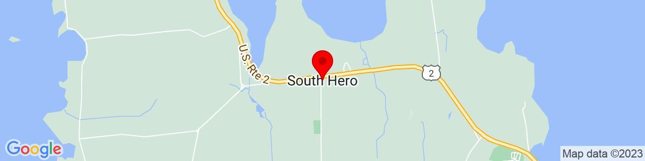 Google Map of 44.6453228, -73.3023532