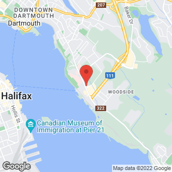 Map of Tim Hortons at 365 Pleasant St, Dartmouth, NS B2Y 3S4