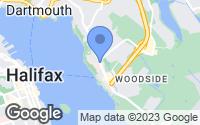 Map of Woodside, NS