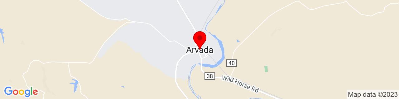 Google Map of 44.6535934, -106.1311391