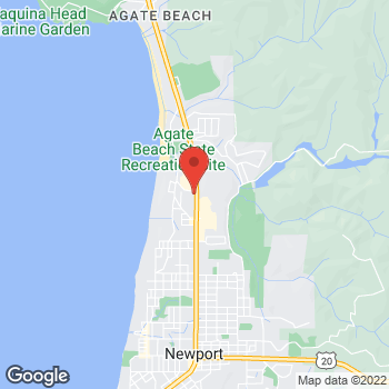Map of Taco Bell at 2415 N. Coast Highway, Newport, OR 97365