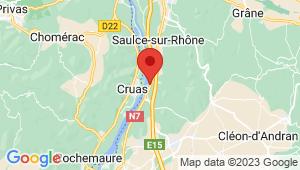 Carte de localisation du centre de contrôle technique LES TOURRETTES