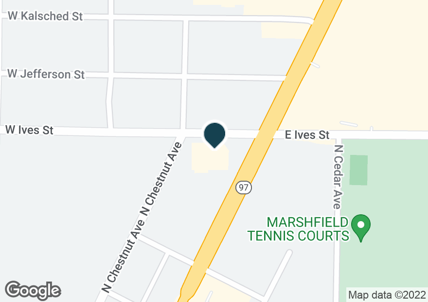 Google Map of1012 N CENTRAL AVE