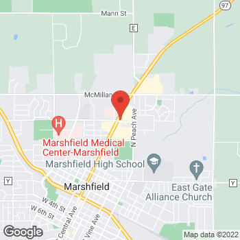 Map of Arby's at 1501 N Central Ave, Marshfield, WI 54449