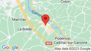 Carte de localisation du centre de contrôle technique PORTETS