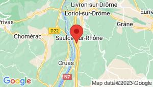 Carte de localisation du centre de contrôle technique SAULCE SUR RHONE