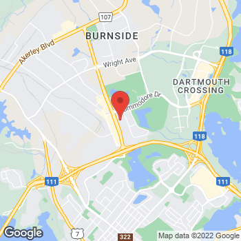 Map of Bureau en Gros Services d'impressions et de marketing at 202 Brownlow Ave., Dartmouth, NS B3B 1T5