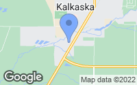 Map of Kalkaska, MI