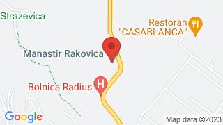 Manastir Rakovica map