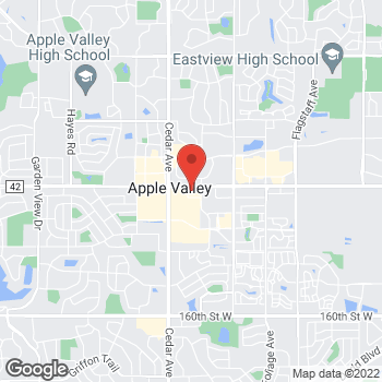 Map of Panera Bread at 15052 Gleason Path, Apple Valley, MN 55124