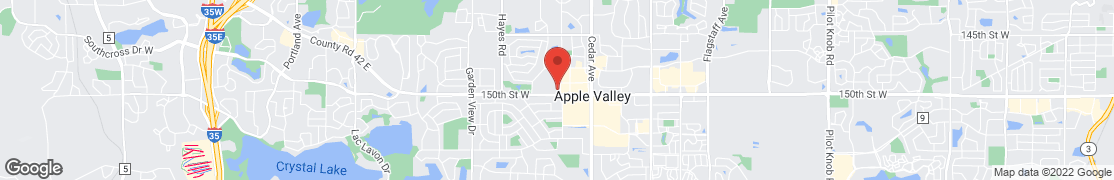 Map of 7805 150th St NW in Apple Valley