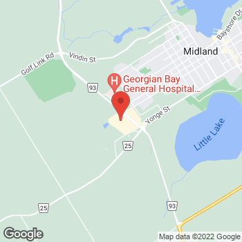 Map of Staples Print & Marketing Services at 9226 Highway 93, Midland, ON L4R 4K4