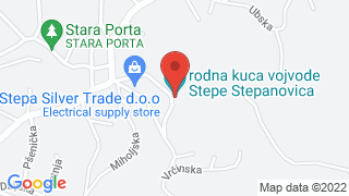 The birth house of Stepa Stepanovic map